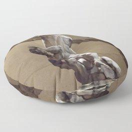 Amazing naked bodies Floor Pillow