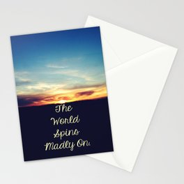 World Spins Madly On Stationery Cards