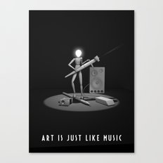 art is just like music Canvas Print