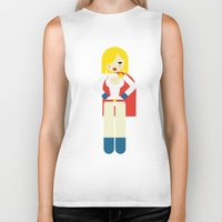 girl power Biker Tanks featuring Power Girl by Marco Recuero