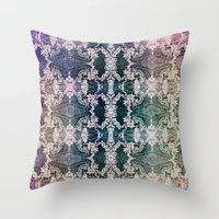 lace Throw Pillows featuring Lace by Truly Juel