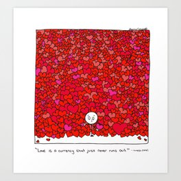 Love Is a Currency Art Print
