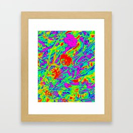 Psychedelic flower garden Framed Art Print
