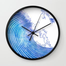 Pacific Waves III Wall Clock