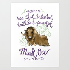 Leslie Knope Compliments: Musk Ox Art Print