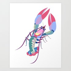 Pink Lobster Art Print