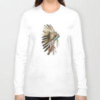 headdress Long Sleeve T-shirts featuring headdress by bri.buckley