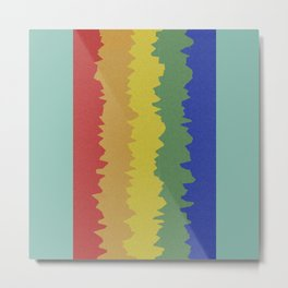 Rainbow Mountains Metal Print
