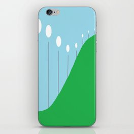 Abstract Landscape - Lights on the Hill iPhone Skin