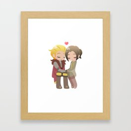 Dragon Age - Cullen and Inquisitor [Commission] Framed Art Print
