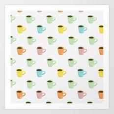 Coffee Pattern Art Print