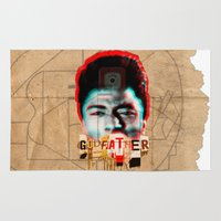 the godfather Area & Throw Rugs featuring Godfather by Marko Köppe