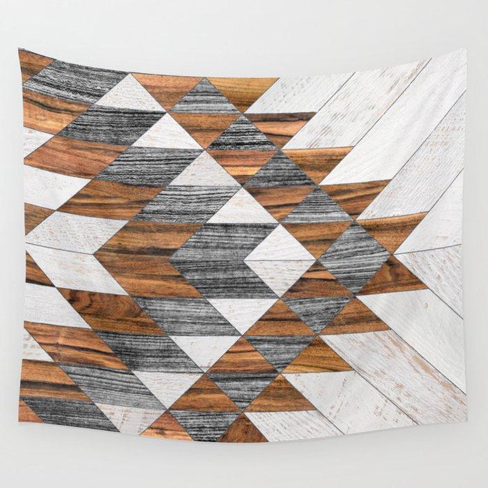 Urban Tribal Pattern 12 - Aztec - Wood Wall Tapestry