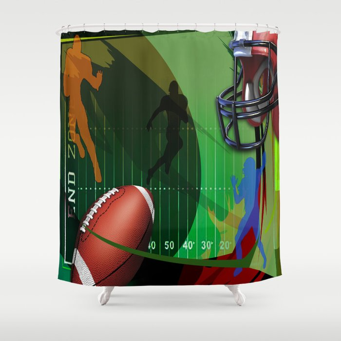Football Shower Curtain By Robincurtiss