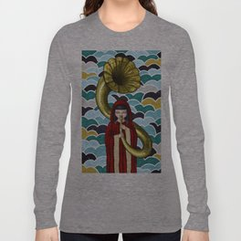 The Girl and the Gramophone Long Sleeve T-shirt