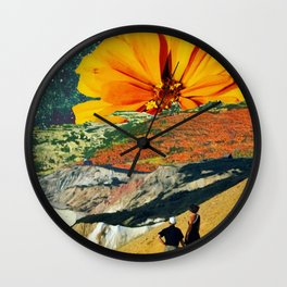 On the Beach Digital Collage Wall Clock