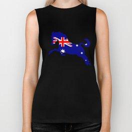 Australian Flag - Horse Biker Tank