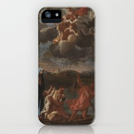 The Return of the Holy Family to Nazareth by Nicolas Poussin iPhone Case