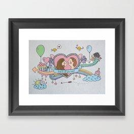 Valentine's Doodle Framed Art Print