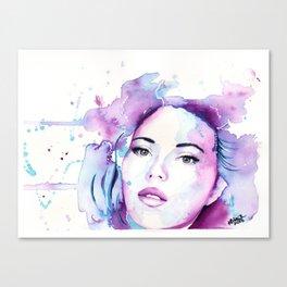 Pink Blue Scarlett Canvas Print