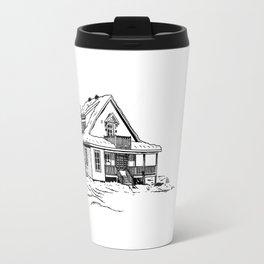 Winter Cottage Ink Travel Mug