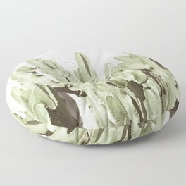 Cactus Portrait on Nude Floor Pillow