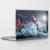 xmas Laptop & iPad Skins featuring Xmas Night by JuliSnowWhite