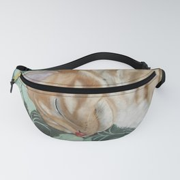 Catnap Sleeping Cat Painting Fanny Pack