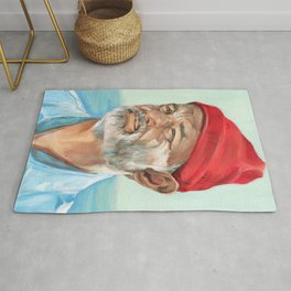 Steve Zissou Bill Murray Painted Portrait Rug