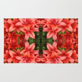 """""""A Gathering of Lilies"""" Remix - 5 (1-1) [D4471~15] Rug"""