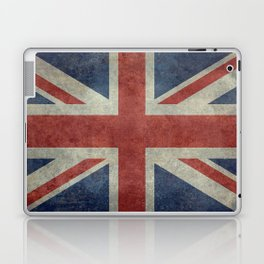England's Union Jack, Dark Vintage 3:5 scale Laptop & iPad Skin