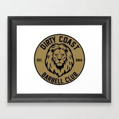 lion tee Framed Art Print