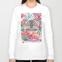 the thing Long Sleeve T-shirts featuring WILD THING by Monika Strigel