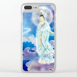 Tranquility Enabling Kuan Yin Clear iPhone Case