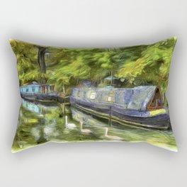 Narrow Boats Little Venice Art Rectangular Pillow