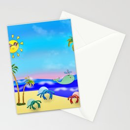 Beach Party for the Baby Crabs Stationery Cards