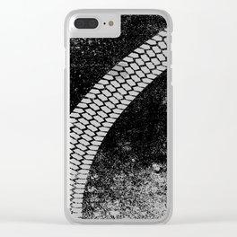 Grunge Skid Mark Clear iPhone Case