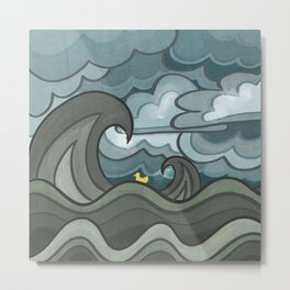 Ducky's Travels: Storm Metal Print