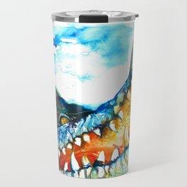 Crocodile Watercolor Painting Travel Mug