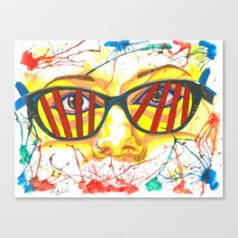 Orphan Black - Cosima DNA Glasses (Original Artwork Print) Canvas Print