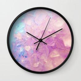 Purple Quartz Crystal Wall Clock