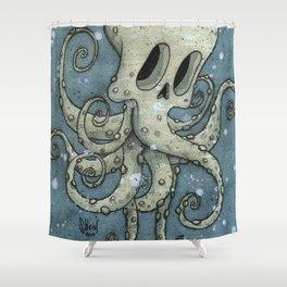 Nasty octopus Shower Curtain