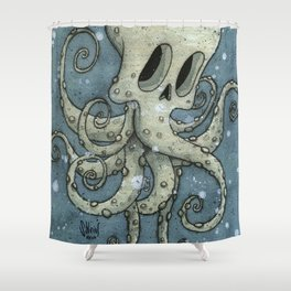 Nasty octopus Shower Curtain