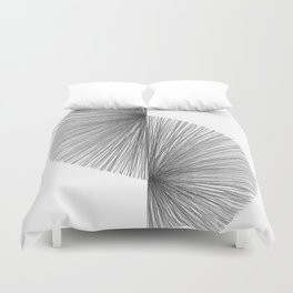 Mid Century Modern Geometric Abstract S Shape Line Drawing Pattern Duvet Cover