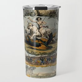 Raphael's Prophetic Almanack: a bull and a dragon (1844) Travel Mug