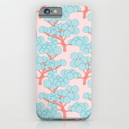 Doodle Forest Pattern iPhone Case