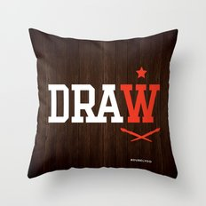 DRAW Throw Pillow