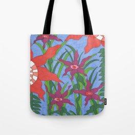 Boho Garden Blues Tote Bag