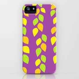violet leaves iPhone Case