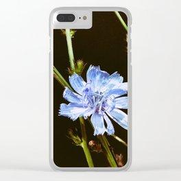Roadside Flowers Clear iPhone Case